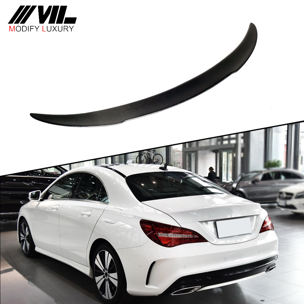 AMG Carbon Fiber FD Style Rear Spoiler Wing with red line for Mercede s Ben z CLA <strong>W117</strong> 13-18