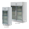Eco-friendly commercial upright glass door refrigerator for fruit and vegetable