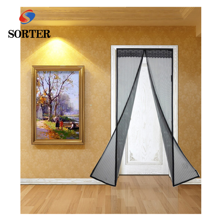 Hot sell hands-free Magnetic mesh door curtain fly <strong>screen</strong>