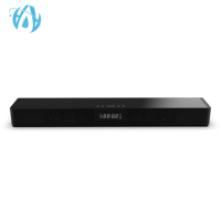New Home Theater LED Display 4 Speakers Strong Bass Optical TV QI Wireless Charger Bluetooth Soundbar with Remote Control