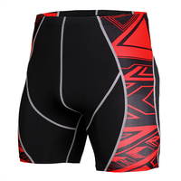 2019 Black Trend Printing Dry Fit Running Gym Wear Men Custom Bike Brand Compression Shorts Sportswear