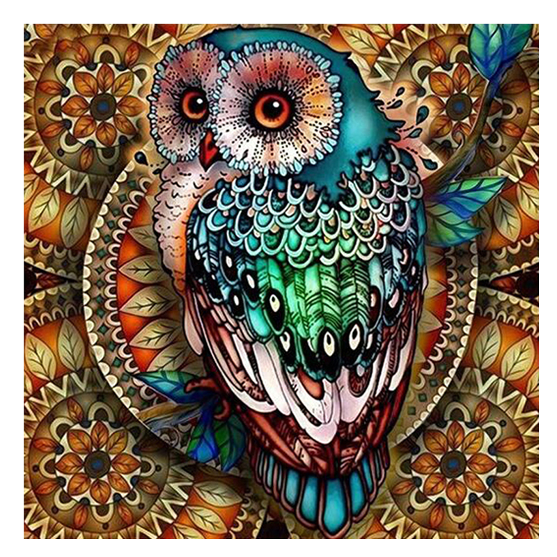 5d Diy Diamond Painting Full Square Owl Diamond Embroidery Mosaic <strong>Picture</strong> Of Rhinestone Animal Decoration Home