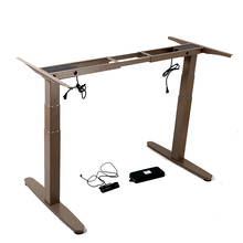 Motorised Height Adjustable Desk Frame - Coffee color Sit to Stand Desk Frame