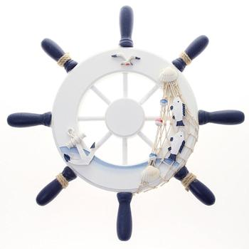 Nautical Wooden Ship wall hanging Wheel decorative  wood boat steering wheel