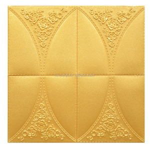Luxury style faux leather wall panel