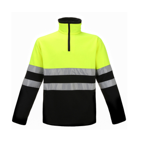 High visibility hi vis shirt reflective safety fleece shirt