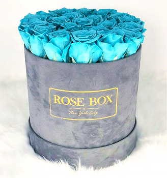Custom luxury gray round suede flower boxes,rose box velvet hat packaging boxes