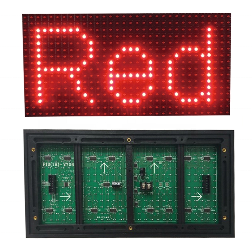 Outdoor <strong>LED</strong> Moving Sign <strong>P10</strong> Single Color 1y 1b <strong>1w</strong> 1g 1r 320*160 <strong>Led</strong> Outdoor Display <strong>Module</strong>