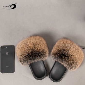 2019 Wholesale Anti-Slippery Women Soft Cheap Fur Slippers