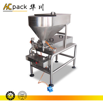 Double-heads Semi-automatic liquid condiment fill machine