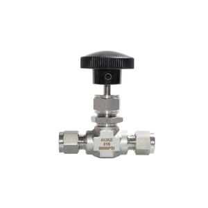 OD 3/8 High Pressure Stainless Steel 5000 psi Double Ferrule Needle Valve