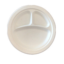 Eco-friendly Disposable Sugarcane Bagasse Dinnerware 3 Compartment <strong>Plate</strong>