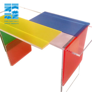 Unique Designed Rectangular Colored acrylic coffee table Lucite furniture dinning table acrylic nesting table sets