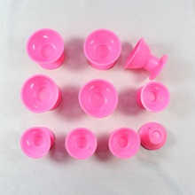 HZM-18136 Hair Care Rollers Curlers Silicone No Clip Rollers Soft Magic DIY Curling Hairstyle Tools Hair Accessories Pink