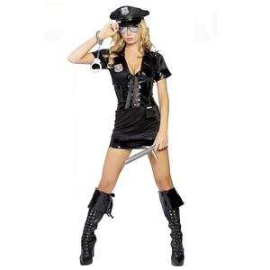 Sexy Police Officer Cop Costume Halloween Party Cosplay