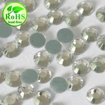 S0817 CRYSTAL UNITE low lead flat back hotfix crystal;China supplier hotfix crystal