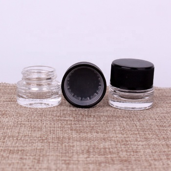 10ml cosmetic eye shadow clear frosted glass cream jar