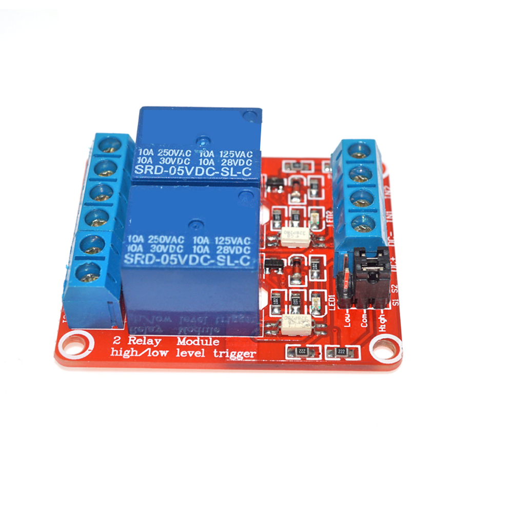 <strong>2</strong> channel relay module relay module 5v 12v Red board