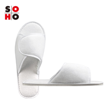 custom disposable hotel spa guest poly fleece open toe four season slippers