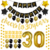 happy birthday party decoration supplies 30 40 50 gold black birthday party set