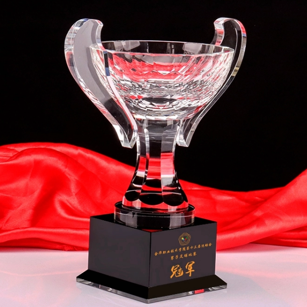 2019 popular world cup crystal trophy high quality award
