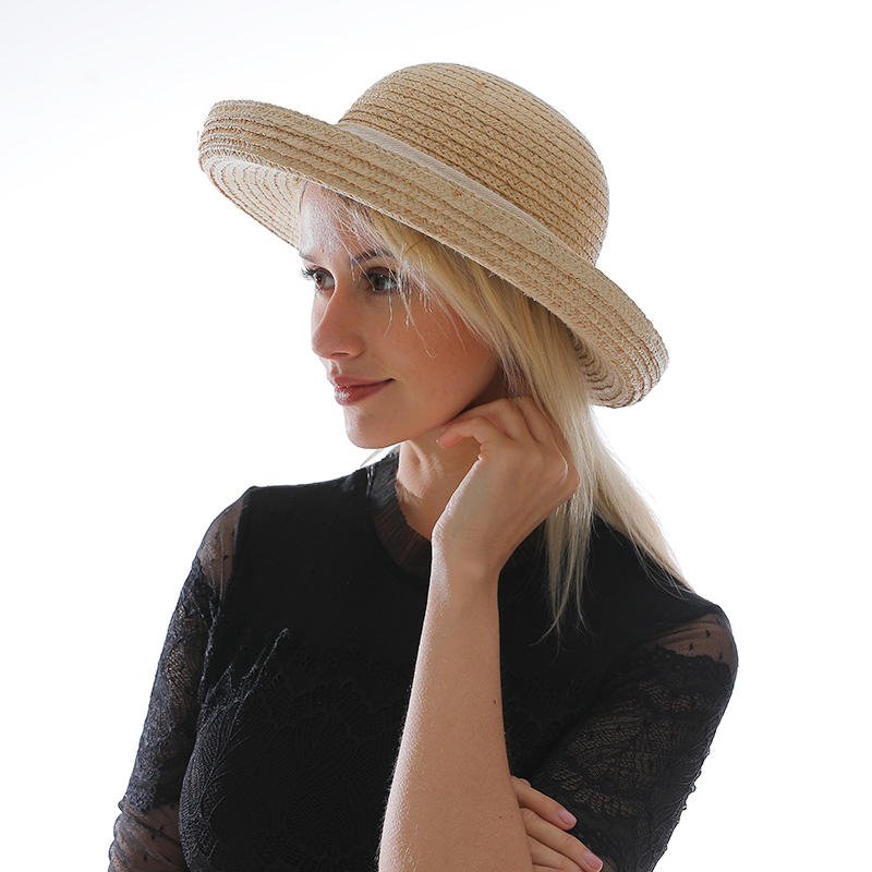 Custom straw girl hat Panama Paper boater Straw Hat Sun shade Hat