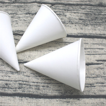 Disposable paper cone cup logo