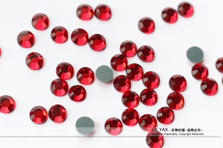 W1124 China quality Machine cuts ss10 clear Crystal hotfix rhinestones flat back two cuts MC stones,Cheap hot fix rhinestones