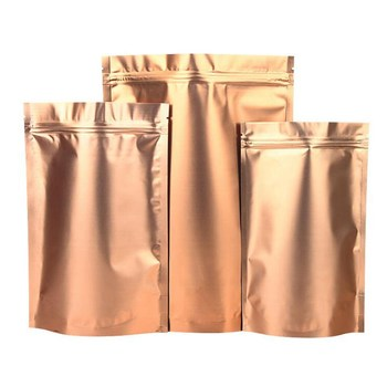 Reusable Aluminum Foil Stand Up Pouches With Zipper For Food Packaging