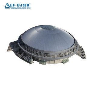 Prefabricated new design light steel space frame structure skylight stadium bleachers roof
