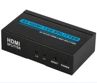 2 Way HDMI 1.4 Splitter 1 in 2 out 4K 3D Active Amplifier Switcher for HDTV PC, Projector PS2 PS3 PS4 XBox360 Blu-ray DVD etc