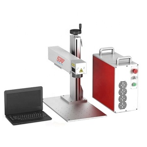 ipg jpt 10W 20W 30w watt 40W 50W smart small mini handy table top desktop colorful color mopa fiber Laser Marking Machine price