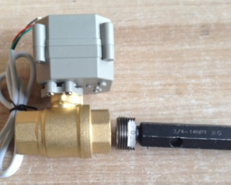 2 Way 1/4 inch Electric control Flow brass water ball valve