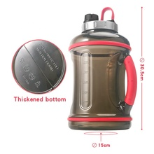 2019 Hot Selling New Mode PETG free Portable Big Capacity 3.2L Sport Gallon Water Gym Jug Bottle With Stainless Steel Lid