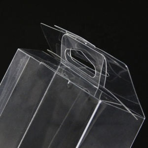 Custom small transparent plastic folding gift box PVC clear plastic cake packaging box