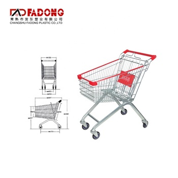 Zinc Plated Supermarket Shopping Trolleys Wire Shopping Trolley