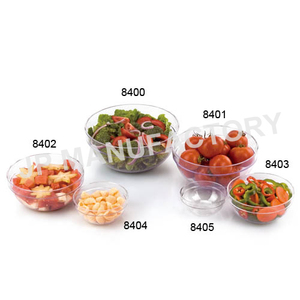 300ML Strong Stackable Round Plastic Salad Bowl mixing bowl set