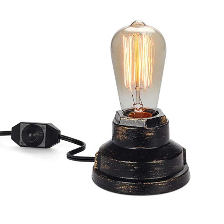 Bedroom Bedside Home Decor Edison <strong>Bulb</strong> E27 Table Lamp For Living Room