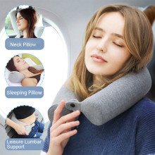New Long Bolster Style Twist Memory Foam Roll Travel Neck Support Pillow for Neck Back and Leg Rest