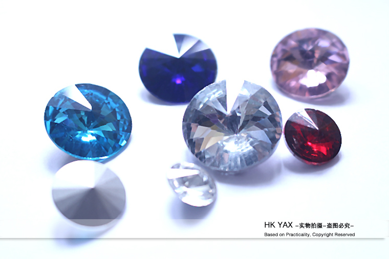 1226W China factory accessories loose faceted glass gemstones;colorful gemstones;loose gemstone for Bikini Suits 6mm