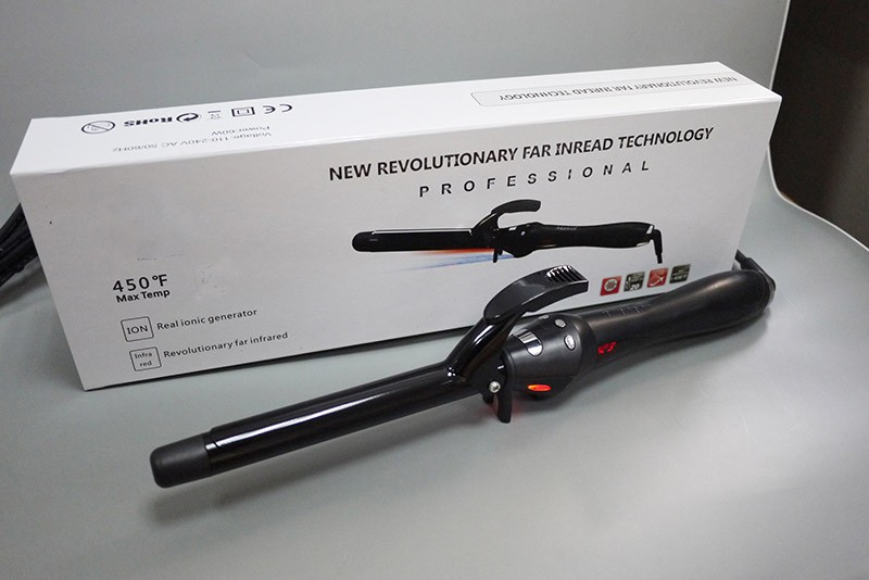 Professional Electric black human hair extension Curling Iron