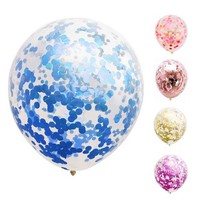 2019 Amazon Hot Sale Rose Gold Sequins Blue 12 Inch 18 Inch Birthday Wedding Decoration Confetti Latex Balloons