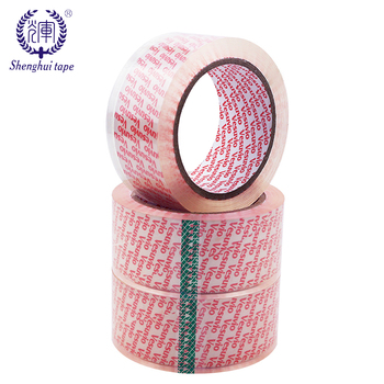 Export Iran 45microns BOPP Film and solvent based acrylic Glue crystal bopp tape for box sealing hot melt bopp tape
