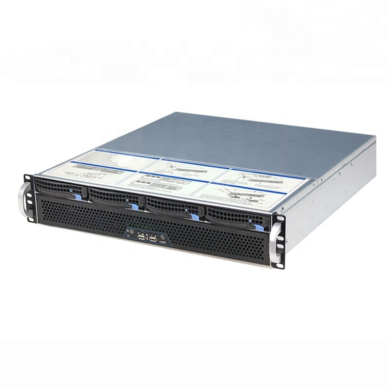 Flexible Ultra short 2U mini case L400mm 4bays hotswap 2U storage rack server chassis for nvr/nas