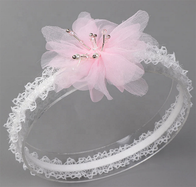 Fashion high elasticity lace cotton flower girl hair kids <strong>headband</strong>
