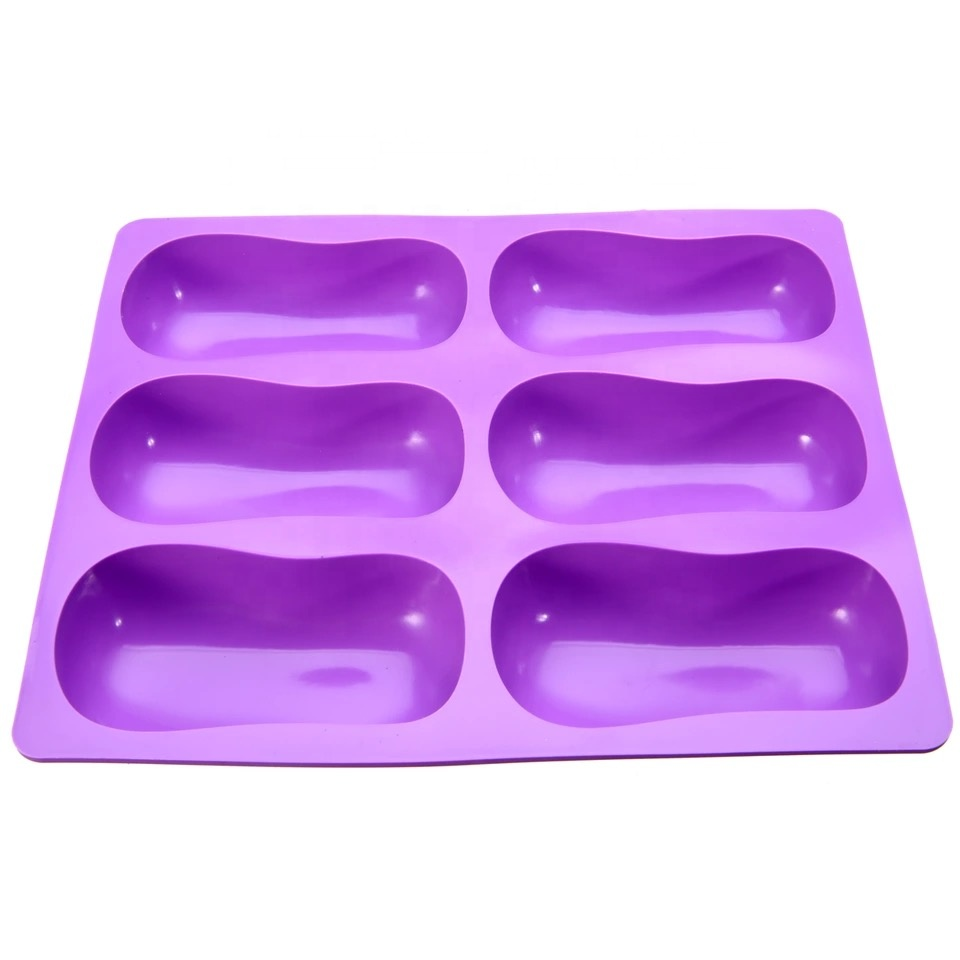 WD003-16 Silicone 6 holes classic gourd soap mold good DIY essential manual soap Mold