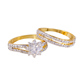 11387 xuping 2PCS/set multicolor gold new model couple rings wedding ring jewelry