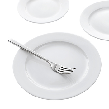 Wholesale From Hosen28 Use In Hotel Ceramic White Dinner Plate, Porcelain Plates Sets Dinnerware~