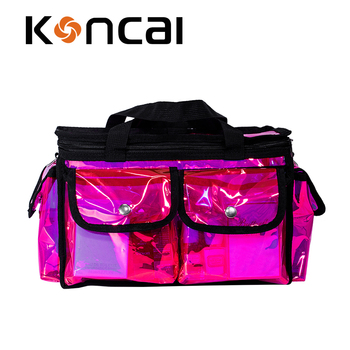 Promotional Holographic pvc cosmetic bag Beauty Bag Large Capacity Handbag