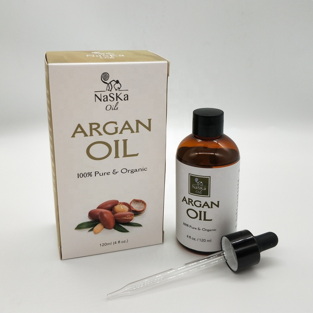 Organic Argan Oil - 100% Pure Organic, Cold-pressed for Hair, Skin, Beard & Cuticles (4 Oz / 120ml)